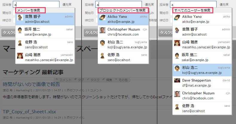 ユーザーのルックアップ